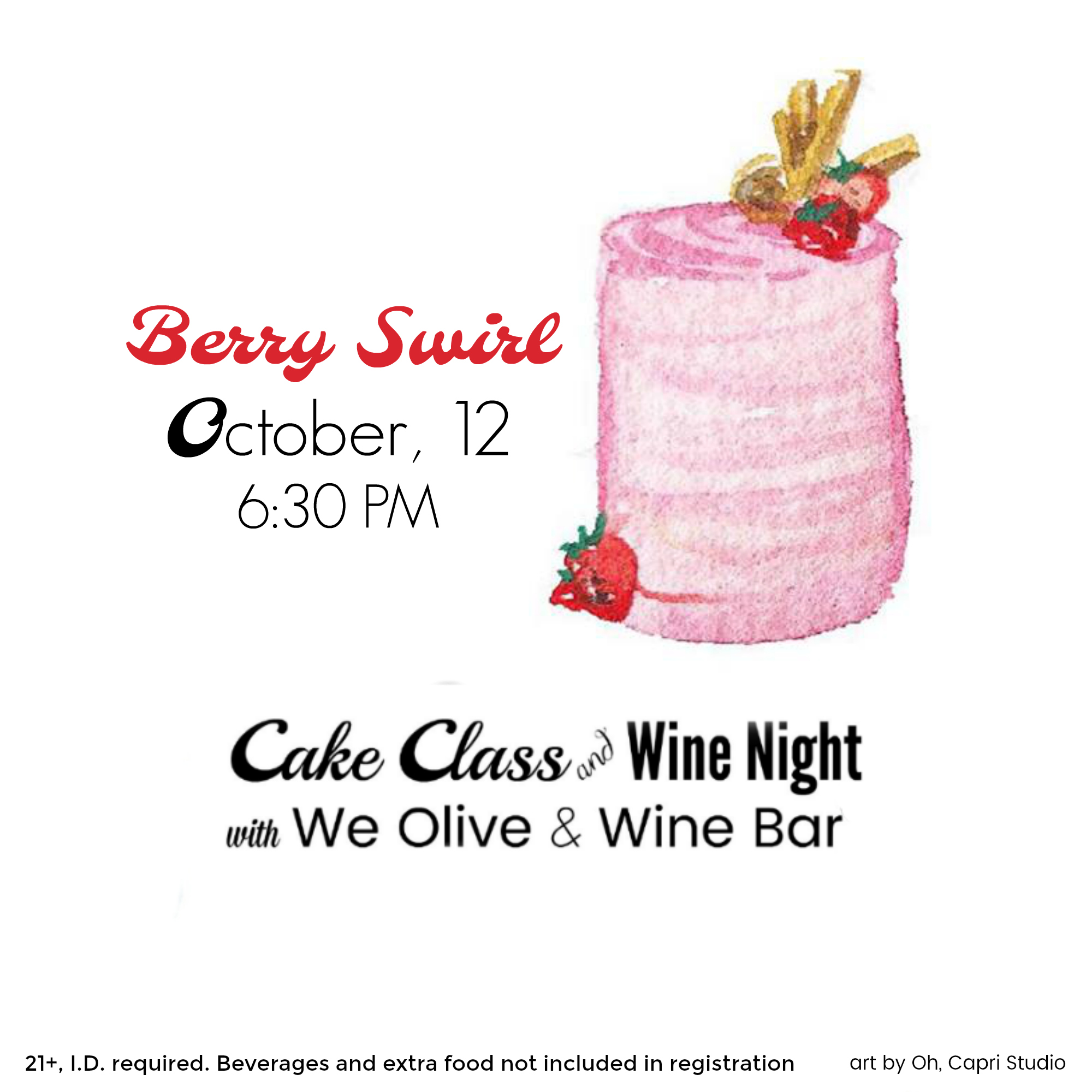 Cake Classes at We Olive and Wine Bar
