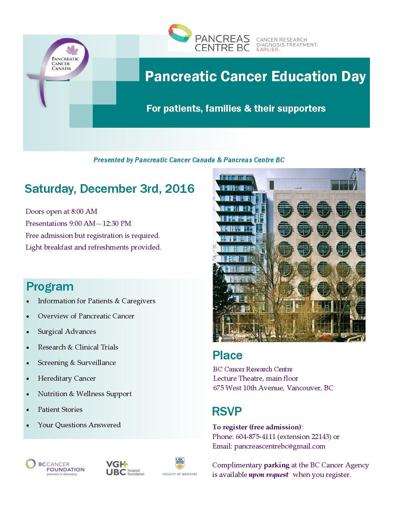 Pancreatic Cancer Education Day Poster