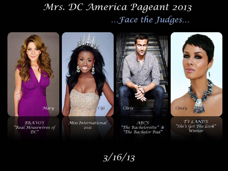 Mrs. DC America 2013 Judges
