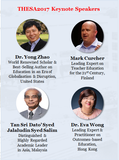 THESA2017 World Class Keynote Speakers