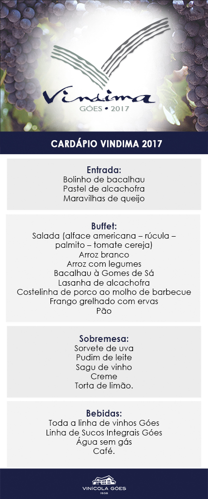 Cardápio Vindima 2017