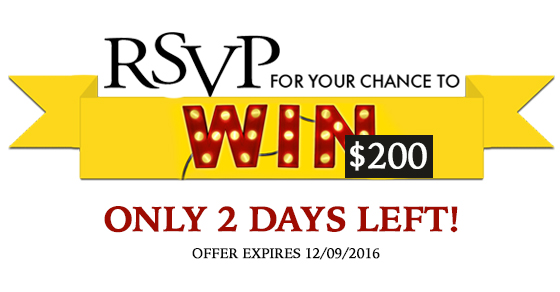 only 2 days left to pre-register and a change to win $200