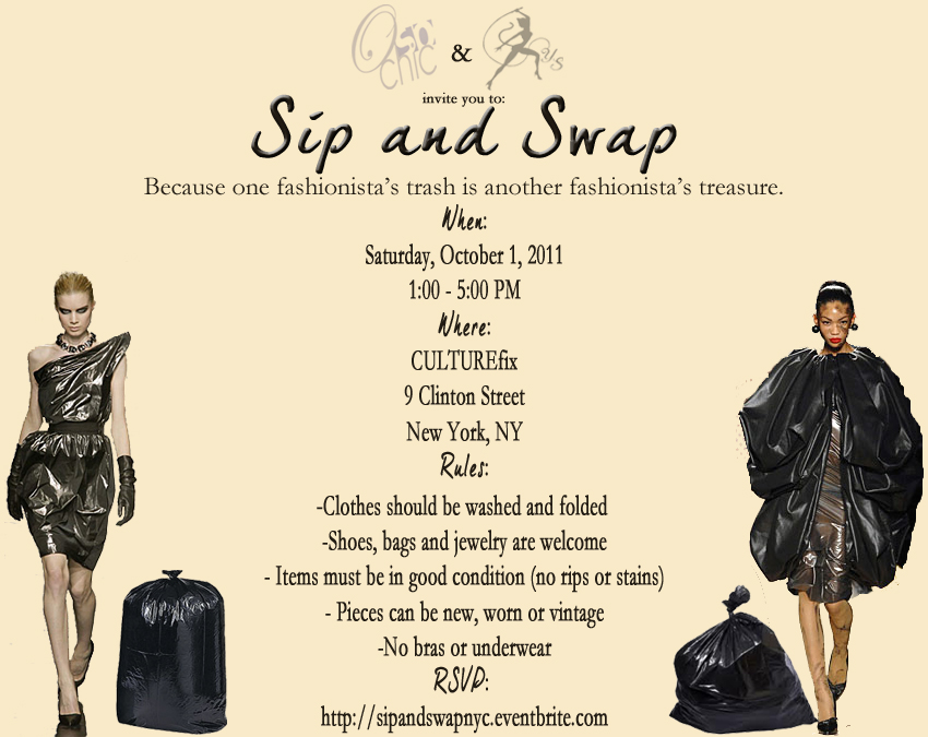 Sip and Swap NYC invitation