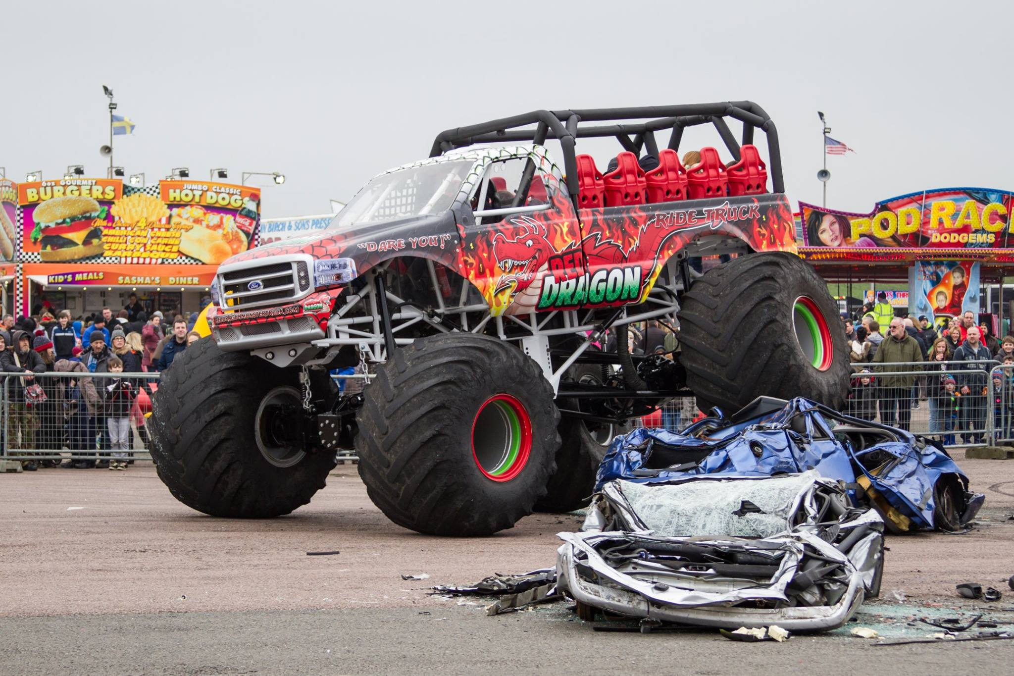 Ride the Red Dragon Monster Truck