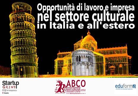 Opportunità di lavoro e impresa nel settore culturale in Italia e all'estero