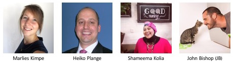 Speakers - Marlies, Heiko, Shameema, Jb
