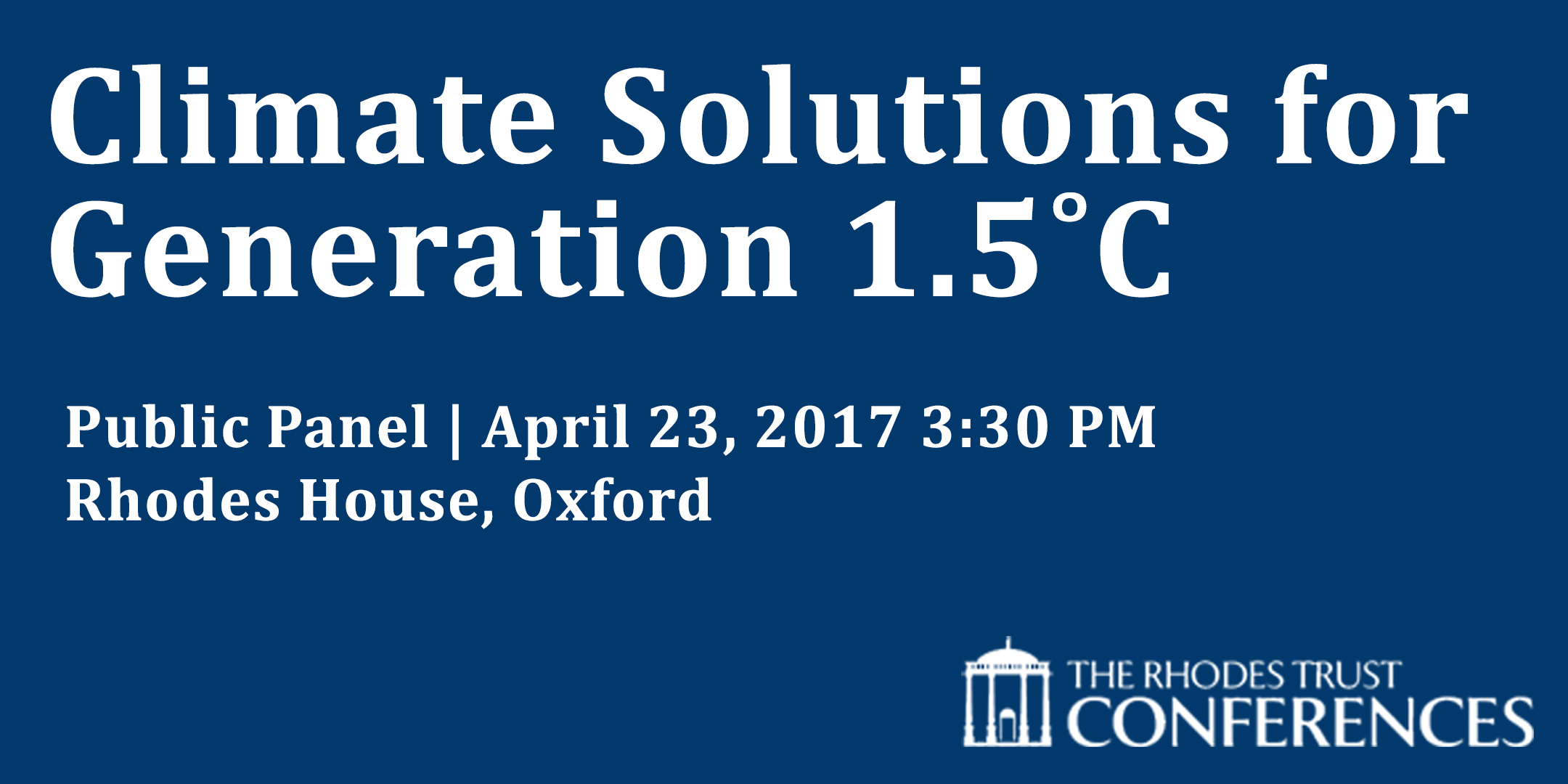 Climate Solutions for Generation 1.5˚C