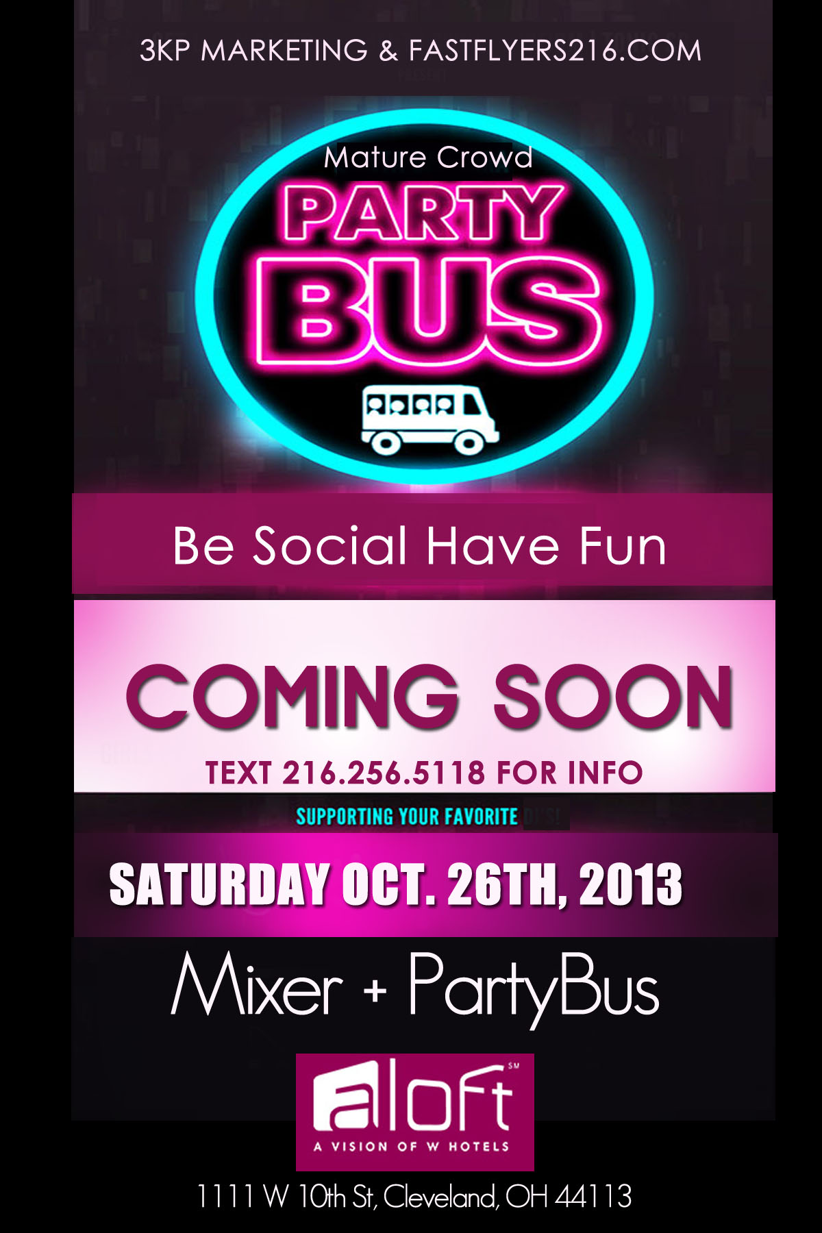 Mixer + Party Bus - Part of Rock the Vote Week Events Tickets, Sat, Oct 26, 2013 at 8:00 PM ...