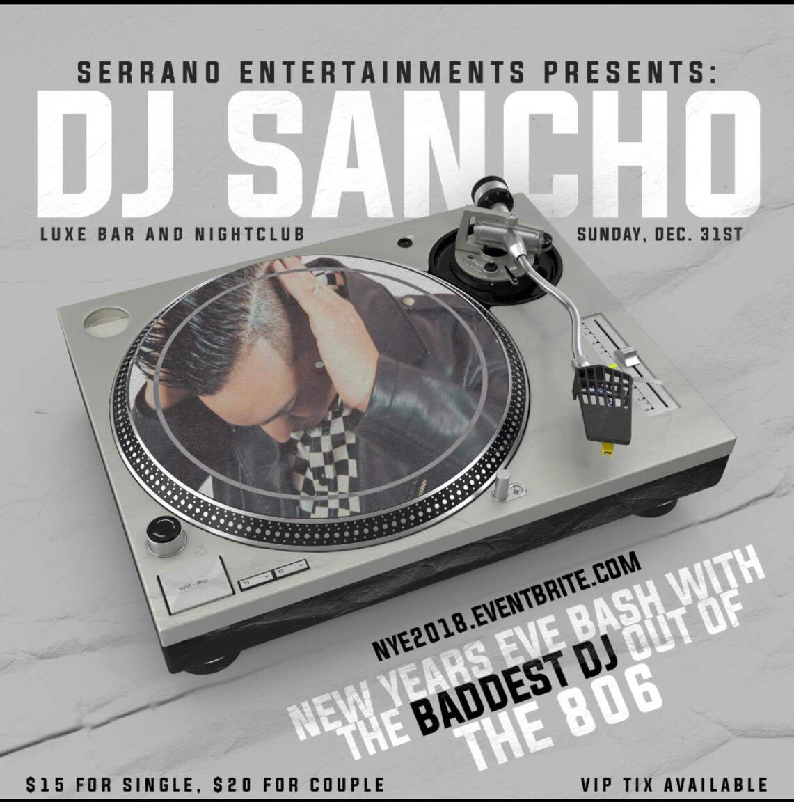 NYE 2018 with DJ Sancho
