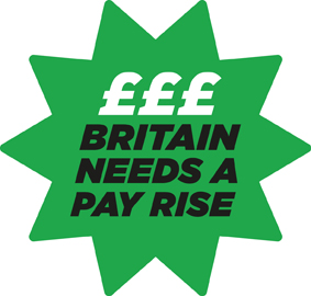 Britain needs a pay rise starburst logo