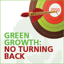'Green Growth: No Turning Back' logo
