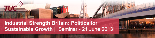 Promotional banner for the Industrial Strength Britain seminar