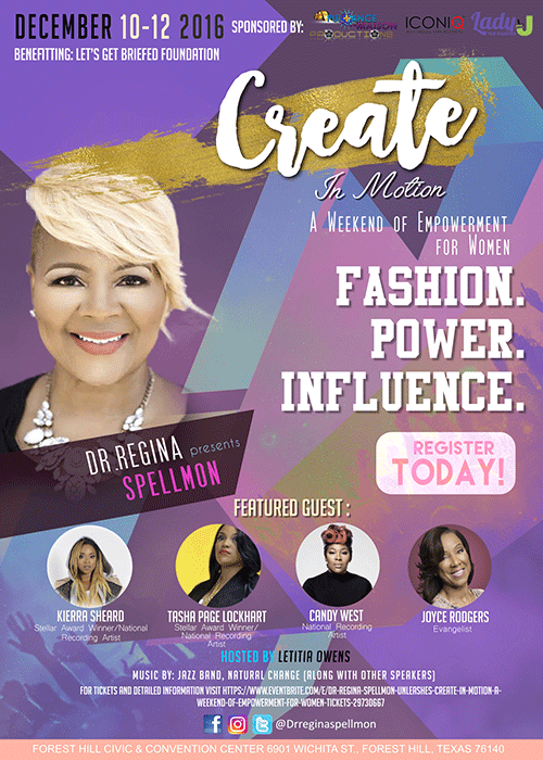 Dr. Regina Spellmon Unleashes Create in Motion, A Weekend of Empowerment for Women