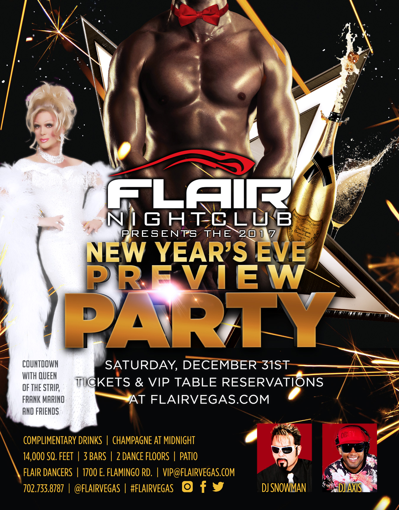 FLAIR nightclub invite