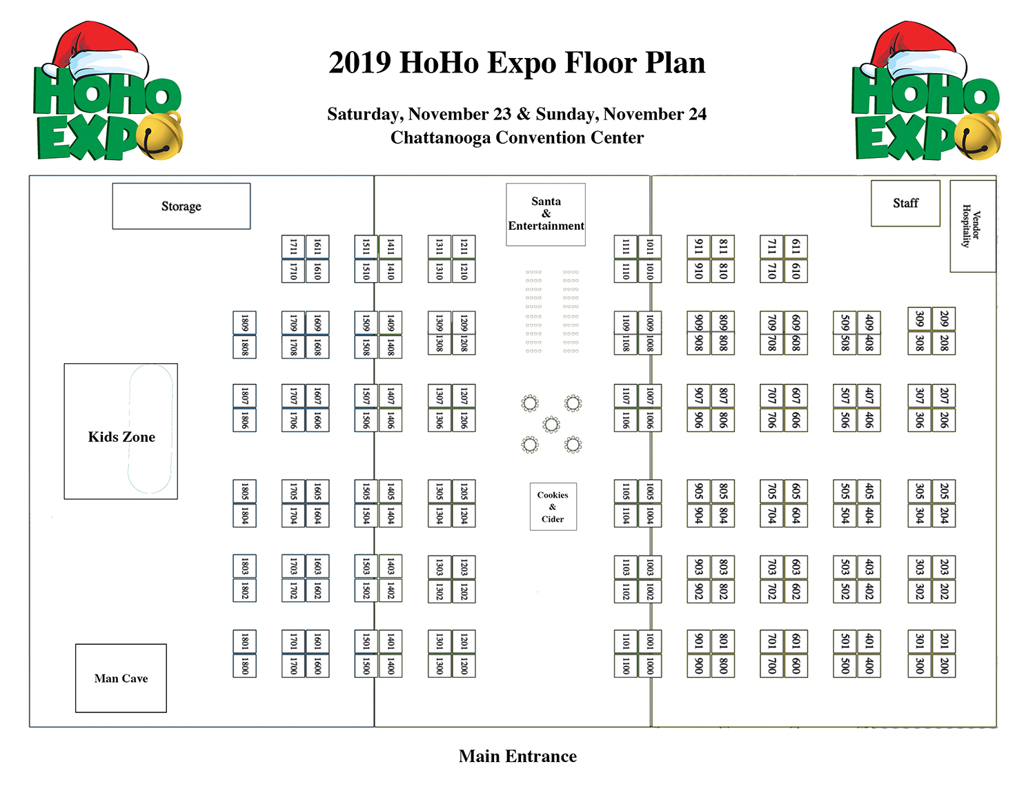 2019 HoHo Expo Floor Plan