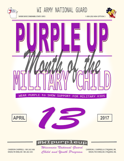 Purple Up for Military Kids April 13th!