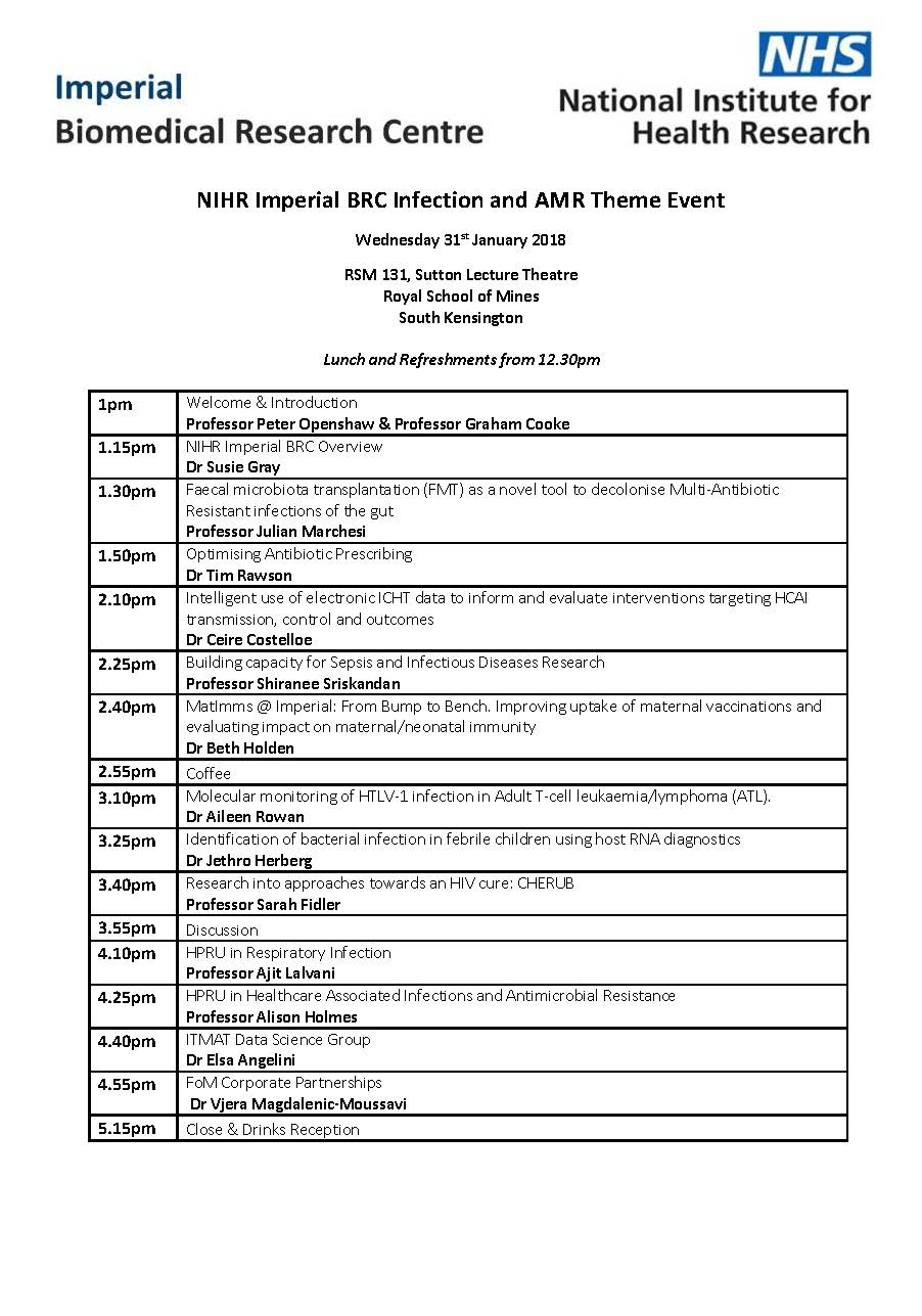 Infection and AMR Showcase Programme