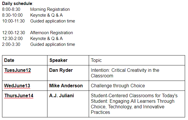 Schedule and Speakers
