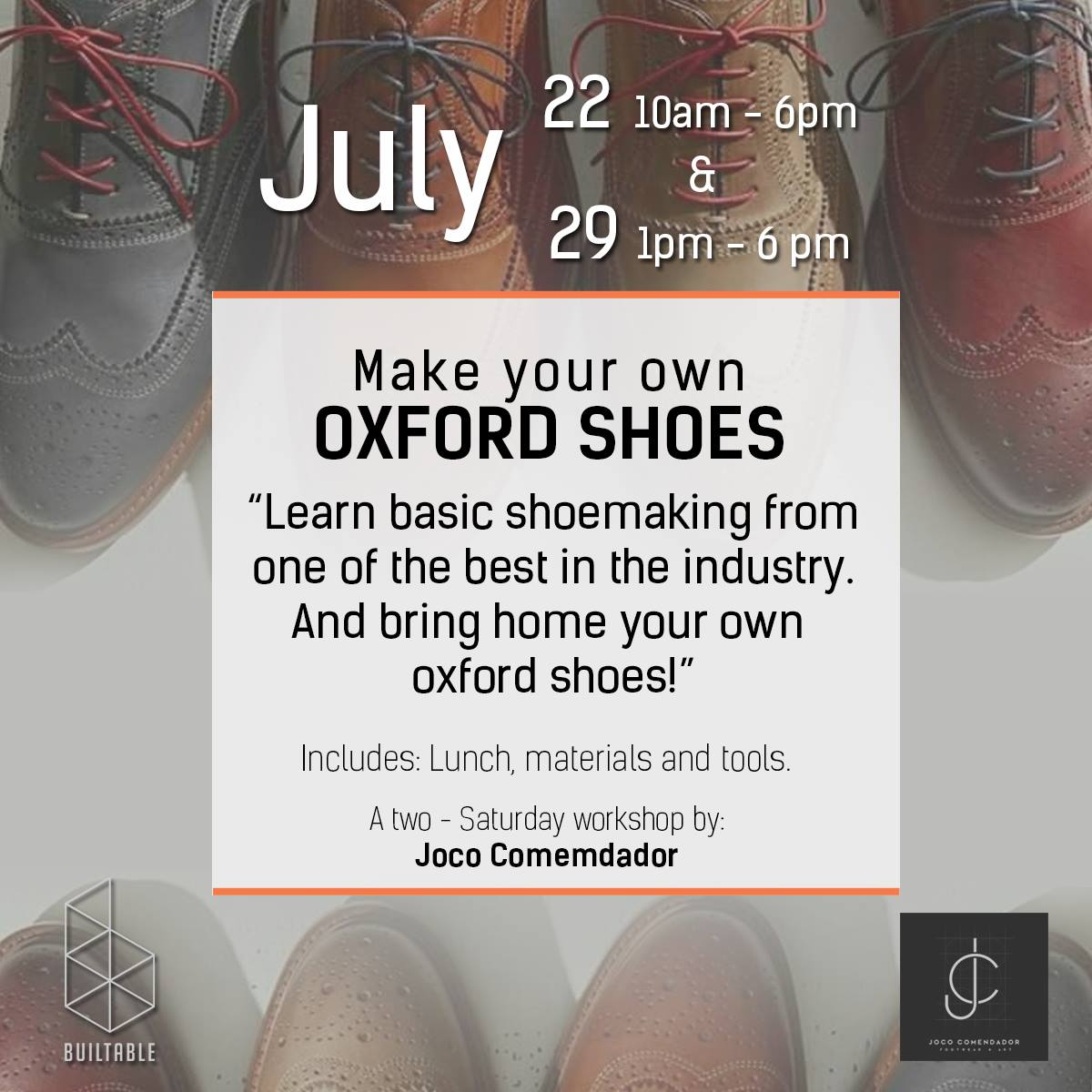Make Your Own Oxford Shoes Tickets Sat Jul 22 2017 At