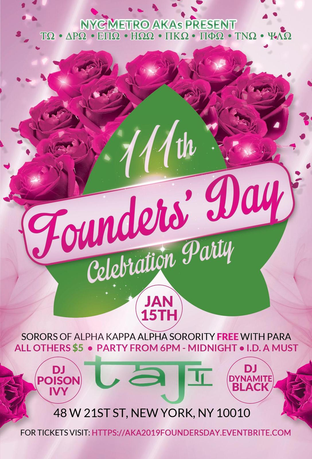 111th Founders Day flyer