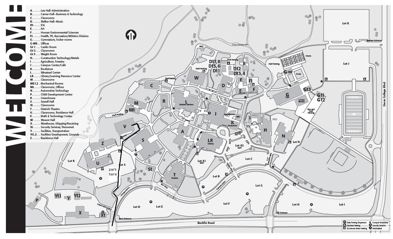 Sierra College Map | PAMELASSMUS