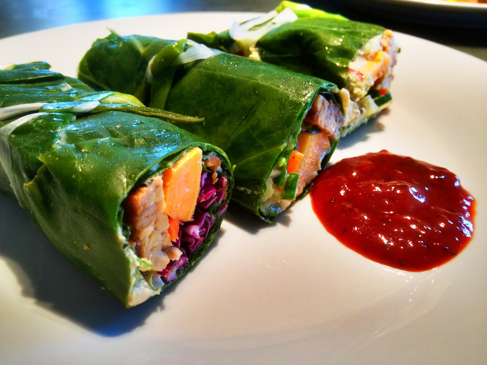 Southern-style Collard Greens Wrap with Sweet Potato
