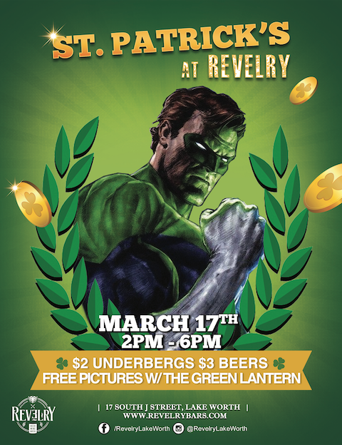 Green Lantern St. Patricks Day Lake Worth Revelry