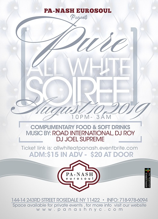 Pure All White Flyer