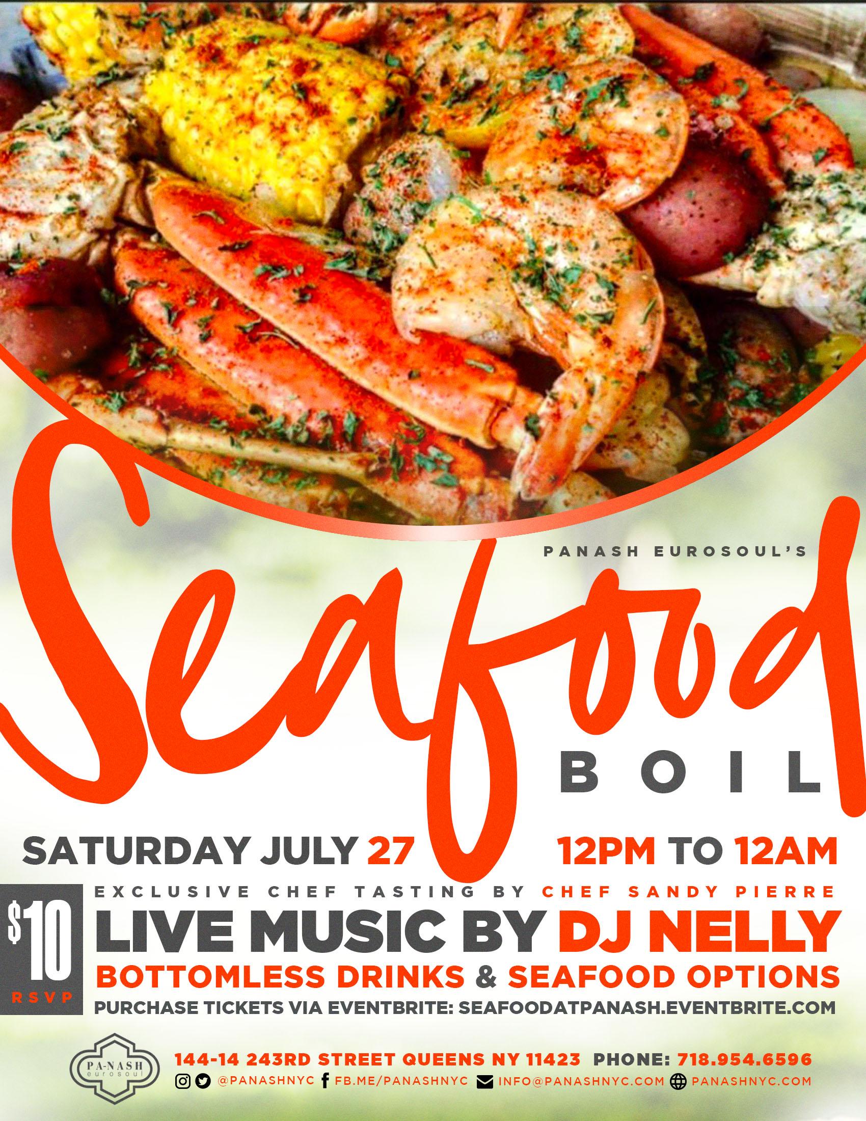 Seafood Boil Flyer