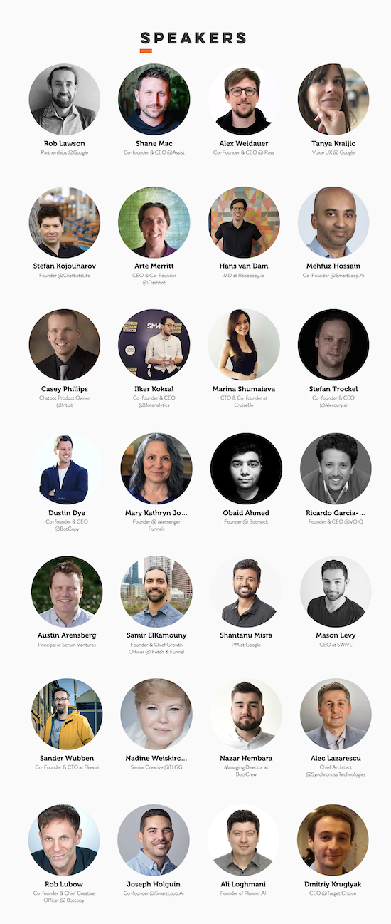 Chatbot Conference NYC Speakers