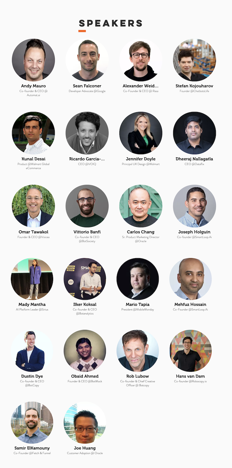 Chatbot Conference Speakers 2019
