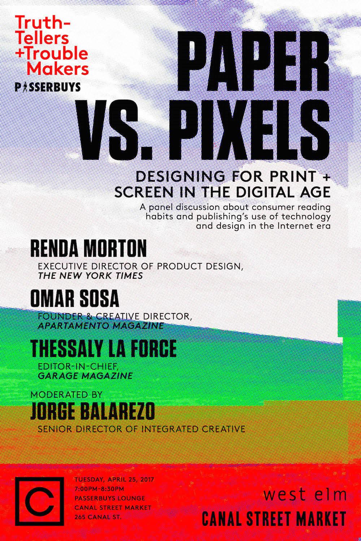 Passerbuys x Chandelier Creative Present: Paper vs. Pixels Tickets ...