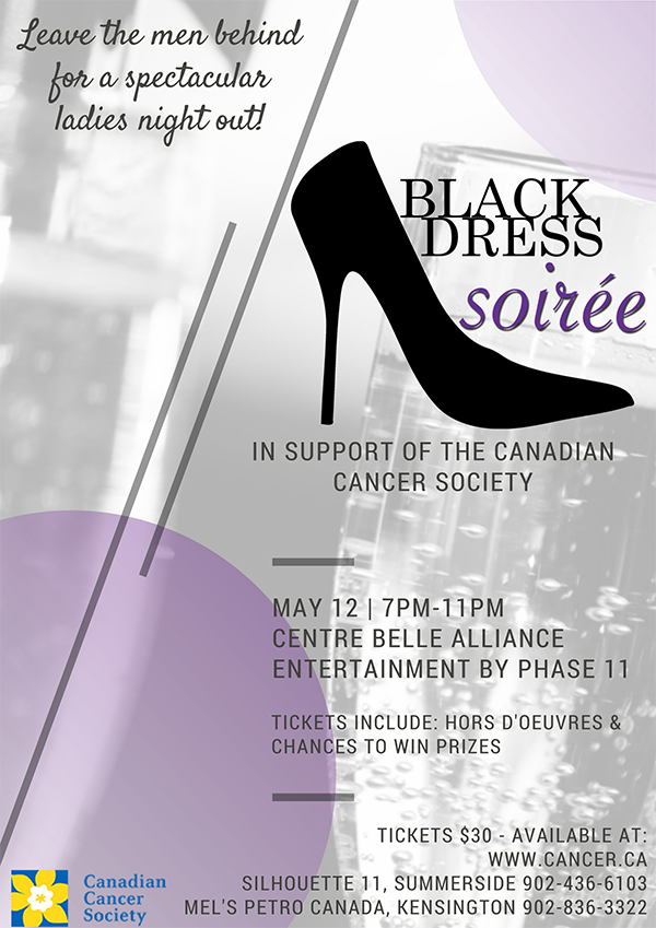 Black Dress Soire Poster