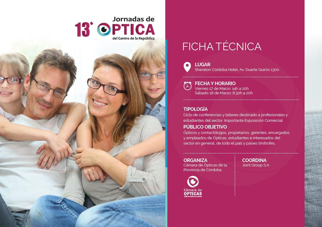 Jornadas de Optica - Ficha Tecnica