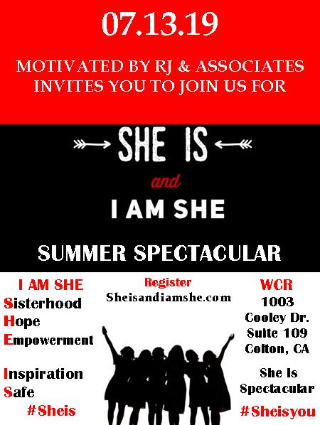 She is and I am she July 13 banner