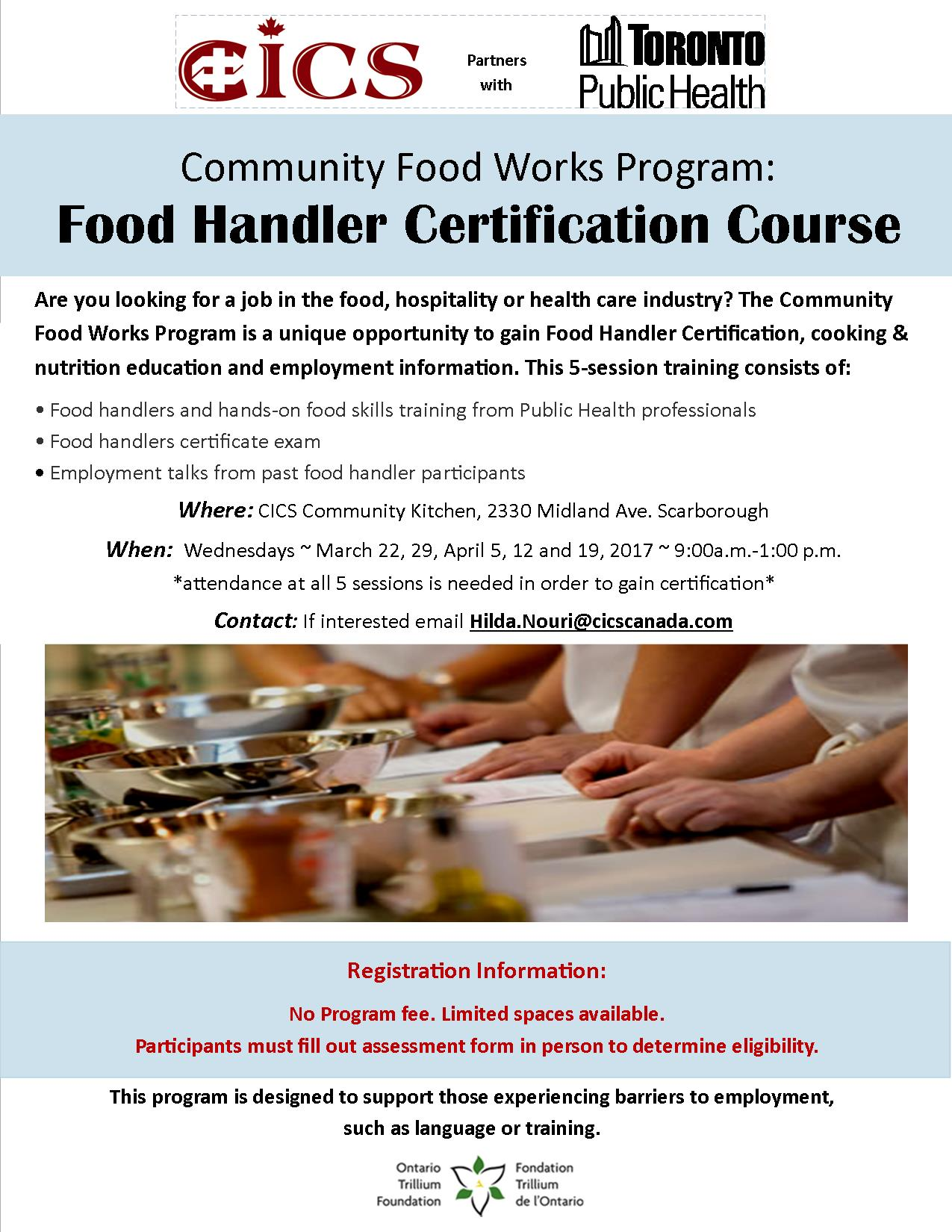 Community food works food handler certification course tickets tags xflitez Choice Image