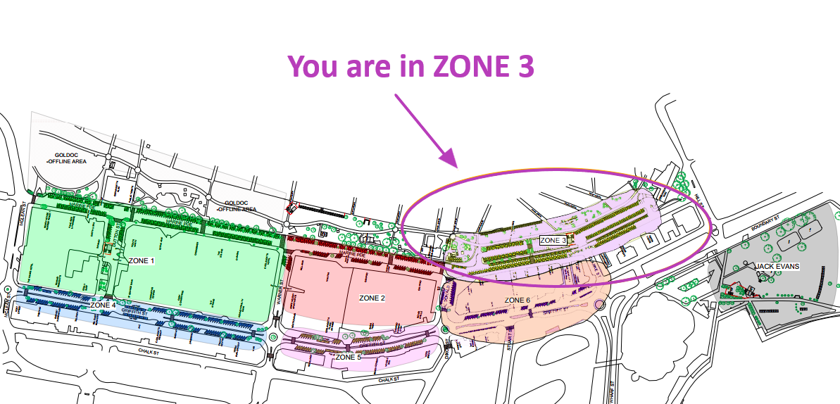 Zone 3 - You are here