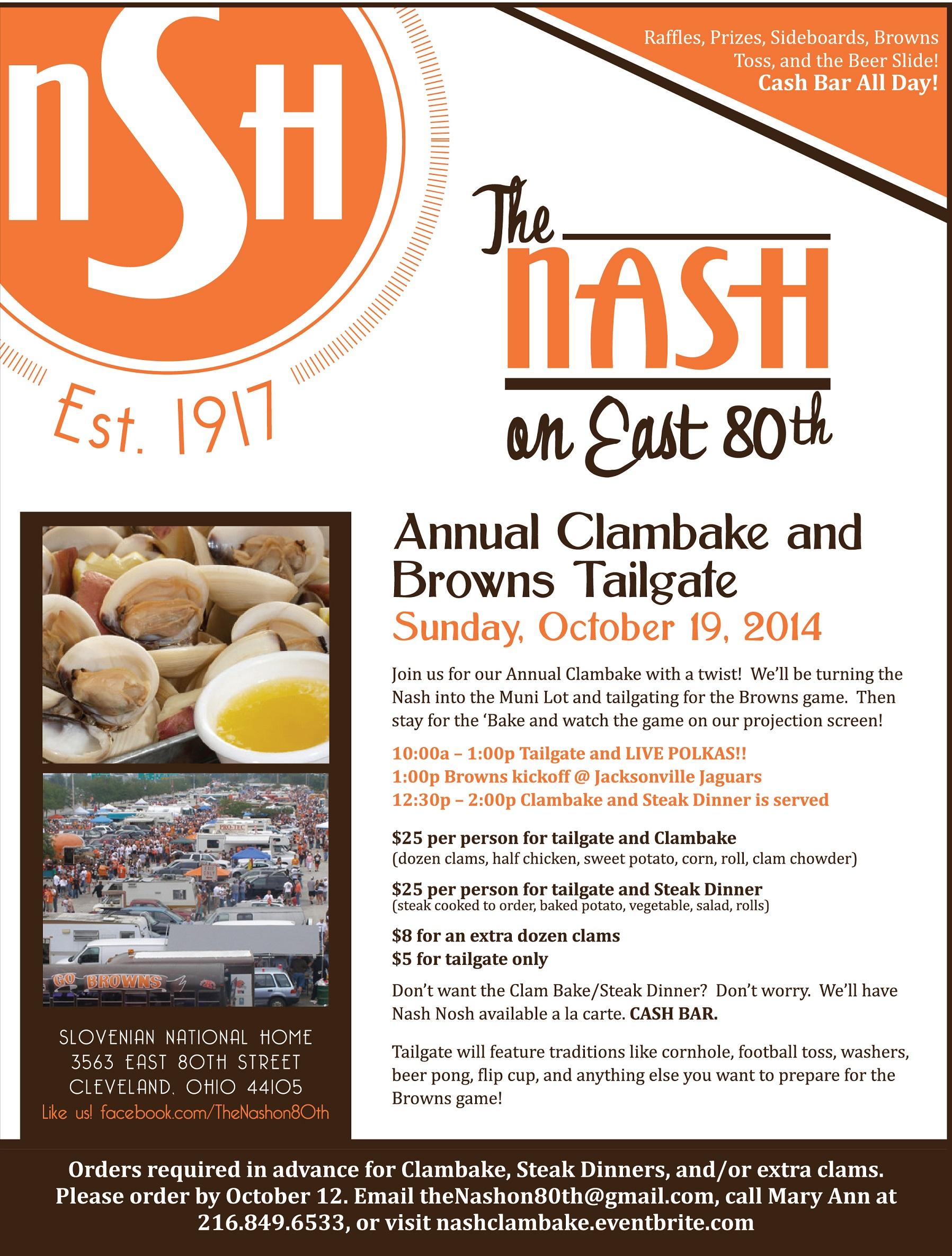 Nash Clambake 2014 Flyer