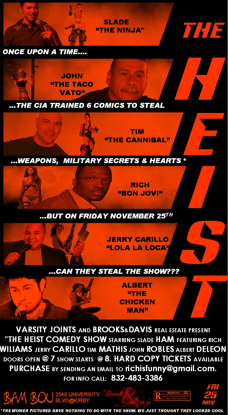 the heist comedy show