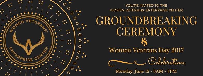 Groundbreaking & Women Veterans Day Invitation