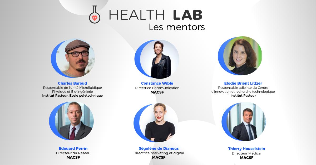 6 mentors, professionnels du domaine, de MACSF et de l'Institut Pasteur