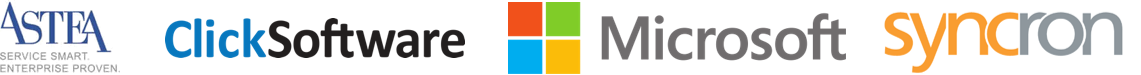 Sponsor + Astea, Click Software, Microsoft and Syncron