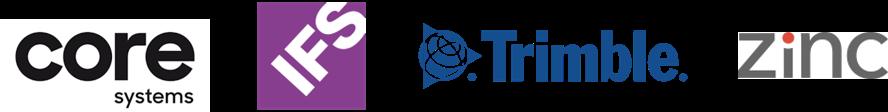 Sponsors Coresystems, IFS, Trimble and Zinc