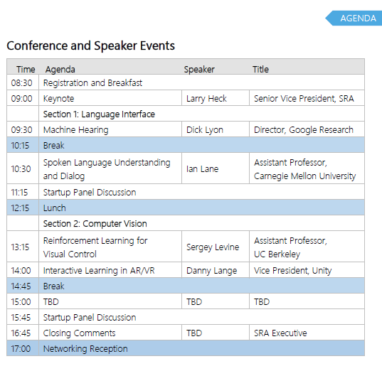 AI Summit Agenda