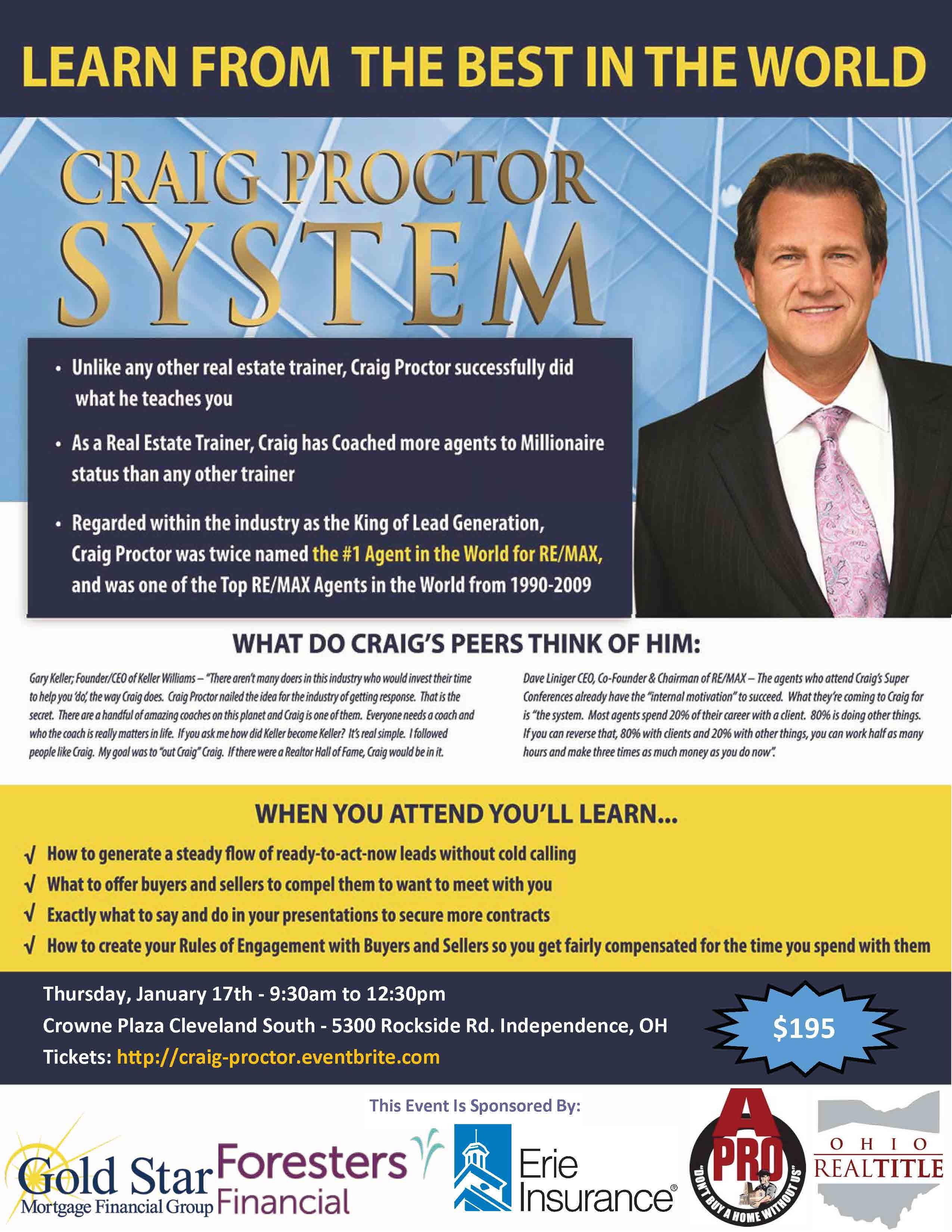 Craig Proctor Cleveland