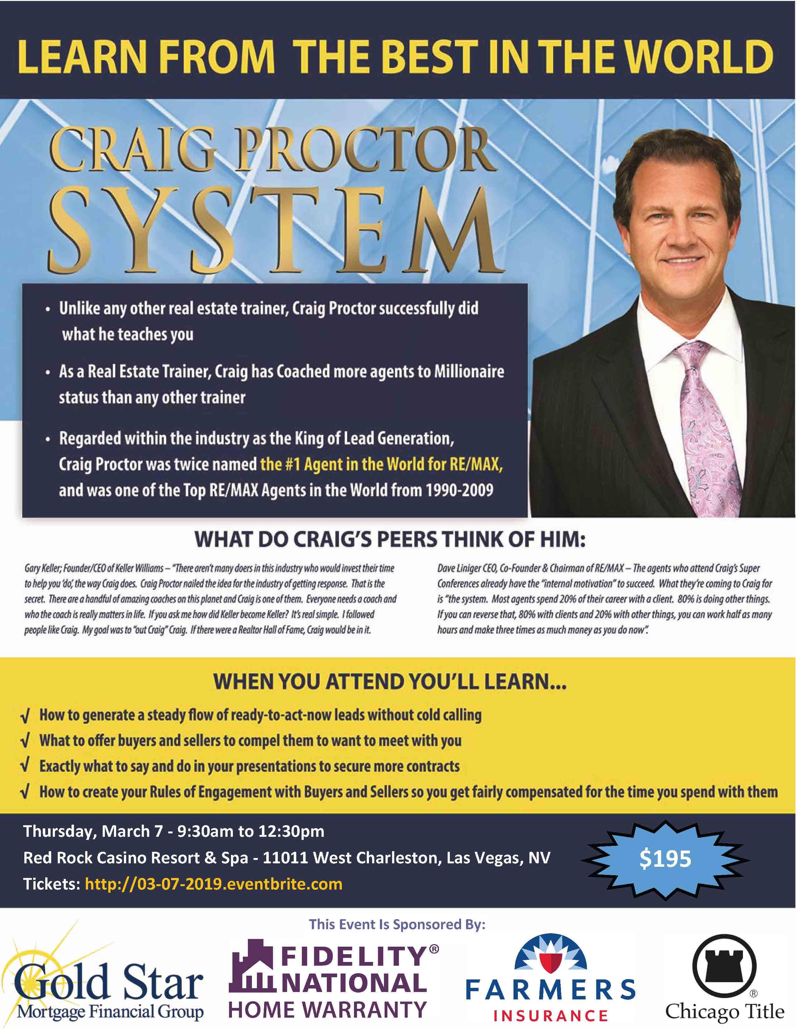 Craig Proctor Las Vegas
