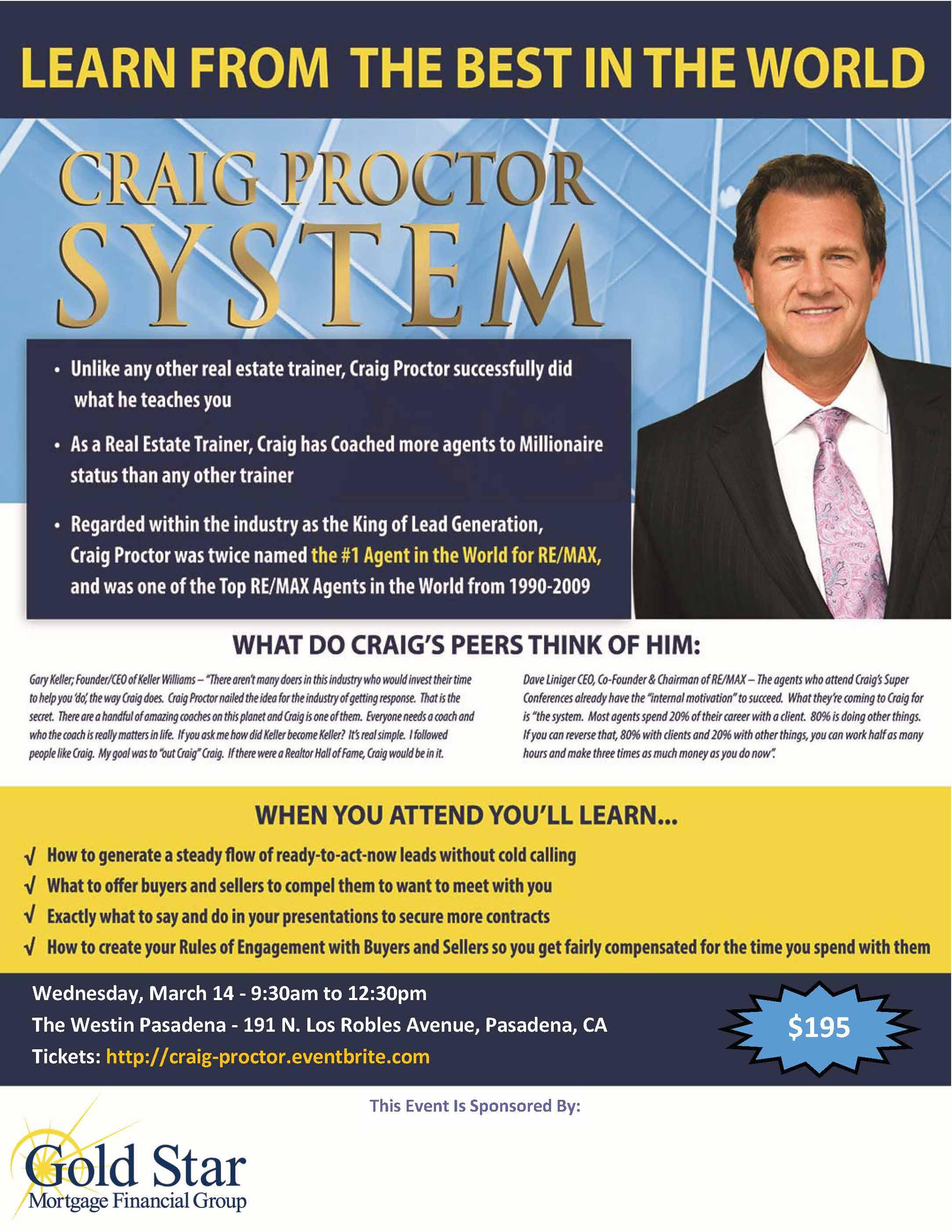 Craig Proctor Pasadena