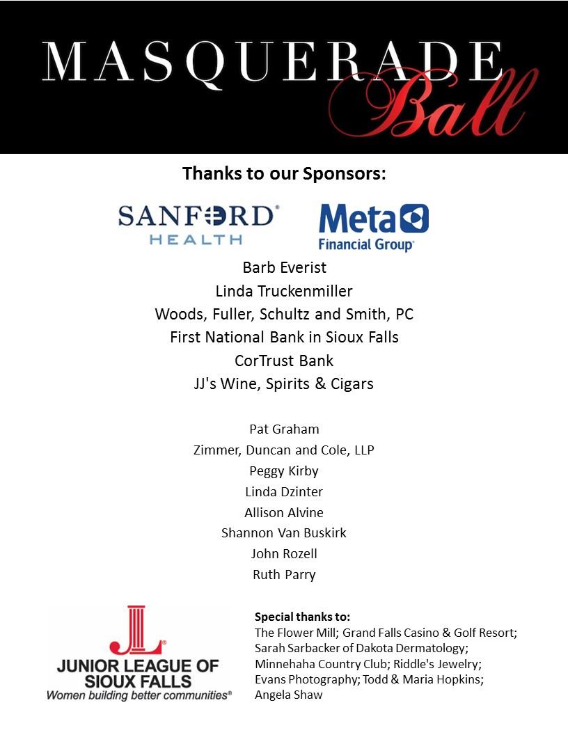 JLSF Masquerade Ball Sponsors