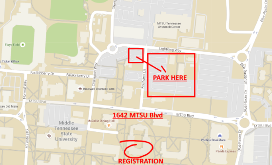 Parking and Registration Map