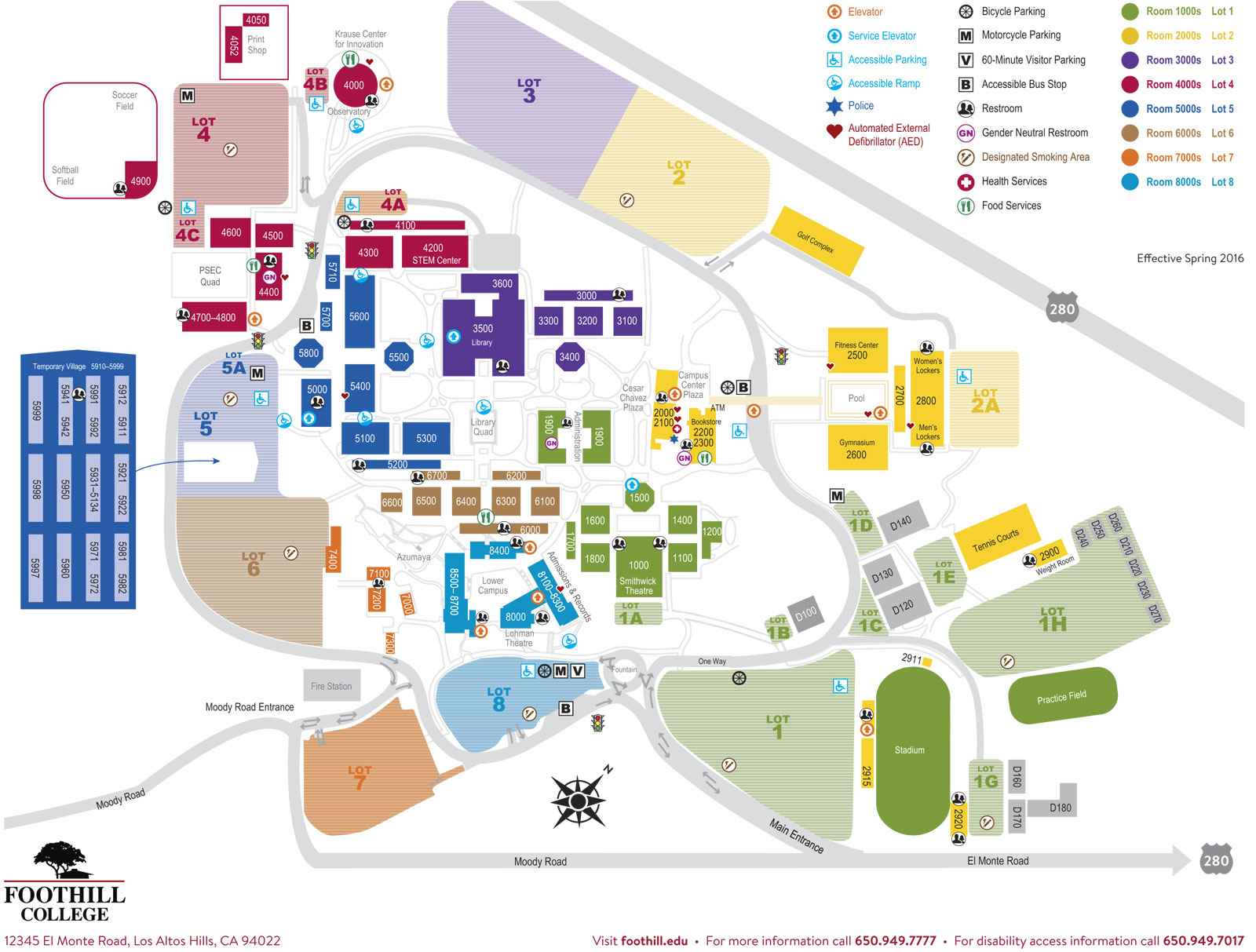 Foothill Campus Map My Blog - Us campus map